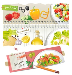 home salads vector image vector image