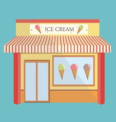 Ice cream store facade vector image