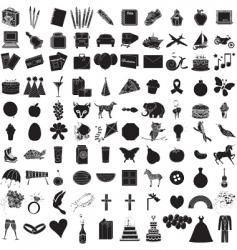 icon set 100 vector image vector image