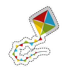 kite toy isolated icon vector image