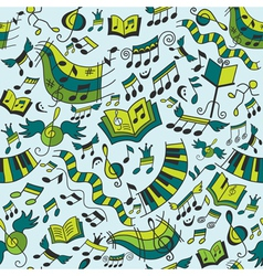 Musical seamless pattern with doodles design eleme vector image vector image