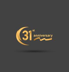 31 years anniversary logotype with double swoosh vector
