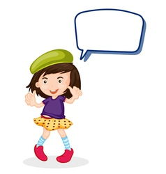a girl and call out vector image vector image