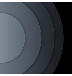 Abstract dark grey paper circles background vector