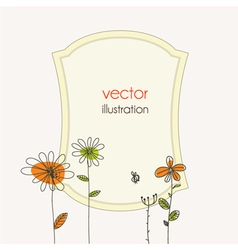 Abstract frame with floral vector