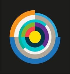 Abstract Technology Circles vector
