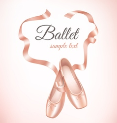 Ballet shoes on background vector
