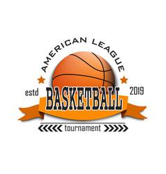 basketball logo design template vector image