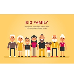 Big Happy Family Parents with Children Father vector image