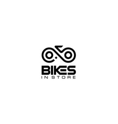 Bike chain cycle cyclist bicycle infinity logo des vector
