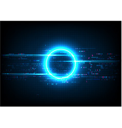 Blue circle digital technology vector