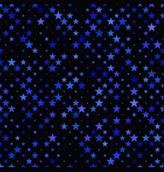 Blue seamless star pattern background - design vector