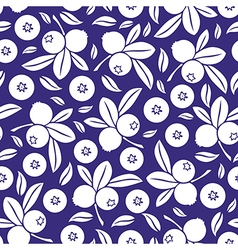 Blueberry seamless blue vector