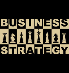 business strategy banner in black and beige design vector image
