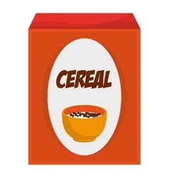 cereal box icon vector image