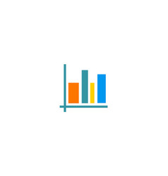 chart business finance logo vector image