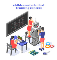 Children technical training composition vector