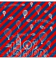 City London Freehand sketch vector