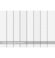 Collection of tile seamless patterns vector