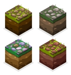 Colors Game block Isometric Cubes nature unending vector