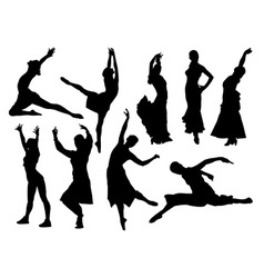 dancers vs vector image