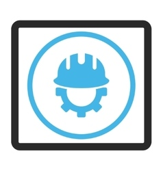 Development hardhat framed icon vector