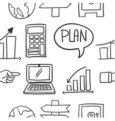 Doodle of business design various object vector