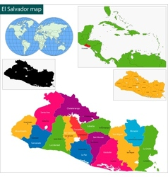 El Salvador map vector