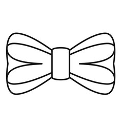 elegance bow tie icon outline style vector image