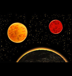 Exoplanets or extrasolar planets vector