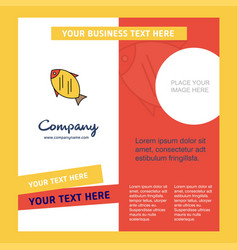 fish company brochure template busienss template vector image