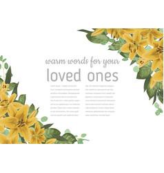 floral invitation invite model watercolor style vector image