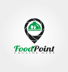 food point logo design vector image
