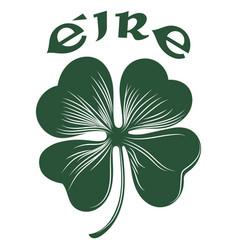 four-leaf clover irish symbol for feast st vector image