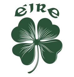 Four-leaf clover irish symbol for the feast of st vector