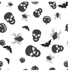 group halloween seamless pattern vector image