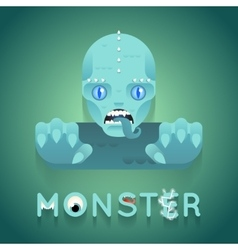Halloween Party Sea Monster Role Character Bust vector