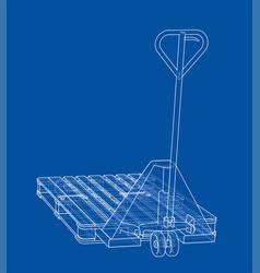 Hand pallet truck vector