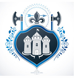 heraldic coat of arms decorative emblem vector image