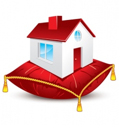 house on pillow vector image