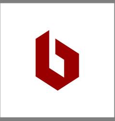 initials letter b logo vector image