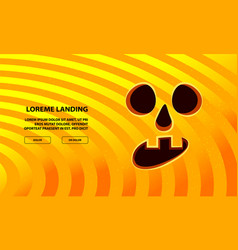 jack pumpkin surprise face carved in orange vector image