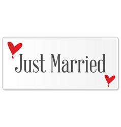 Just married plaque vector