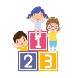 kids cubes zone vector image