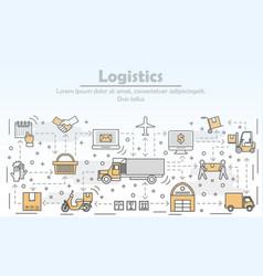 Logistics concept flat line art vector