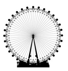 London wheel silhouette vector