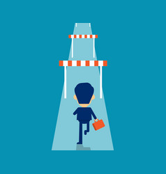 Man hurdle concept business effort vector