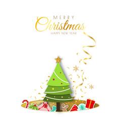 merry christmas background minimal decorative vector image