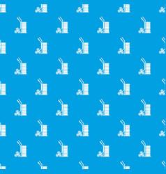 modern trolley pattern seamless blue vector image