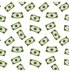 money rain seamless pattern with green banknotes vector image